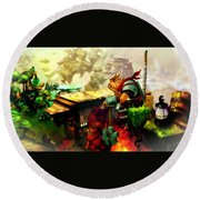 Bastion Round Beach Towel