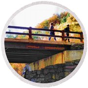 Bastion Falls Bridge 1 Round Beach Towel