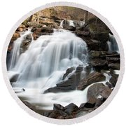 Bastion Falls In April Round Beach Towel