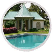 Chanticleer Bath House A Round Beach Towel