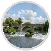 Bathampton Bridge Round Beach Towel