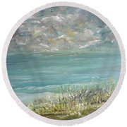 Bathed In Sweetness Round Beach Towel