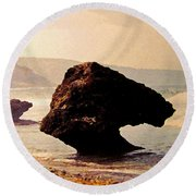 Bathsheba Rocks Round Beach Towel