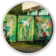 Batik Studio At Coba Village Round Beach Towel
