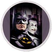 Batman 1989 Round Beach Towel