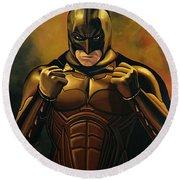 Batman The Dark Knight  Round Beach Towel by Paul Meijering