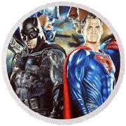 Batman V Superman Round Beach Towel