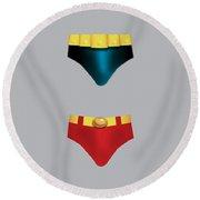 Batman V Superman - Alternative Movie Poster Round Beach Towel