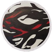 Bats And Eyes Round Beach Towel