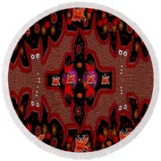 Bats In The Dark Round Beach Towel