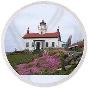 Battery Point Lighthouse Round Beach Towel