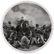 Battle At Princeton New Jersey Usa 1775 Round Beach Towel