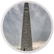 Battle Of Bennington Monument Round Beach Towel