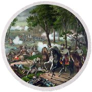 Battle Of Chancellorsville - Death Of Stonewall Round Beach Towel