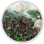 Battle Of Five Forks Round Beach Towel