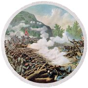 Battle Of Kenesaw Mountain Georgia 27th June 1864 Round Beach Towel by American School