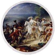 Battle Of Rocroy Round Beach Towel