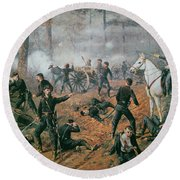 Battle Of Shiloh Round Beach Towel by T C Lindsay