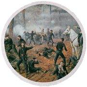 Battle Of Shiloh Round Beach Towel