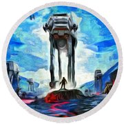 Battlefield Round Beach Towel