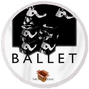 Bauhaus Ballet Poster Round Beach Towel by Charles Stuart