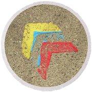 Bauhaus Symbol Paving Stone Round Beach Towel