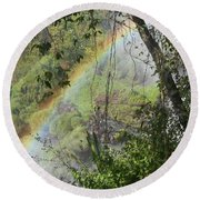 Beauty In The Rainforest Round Beach Towel