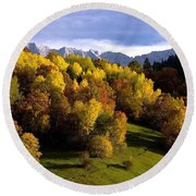 Bavarian Alps 2 Round Beach Towel