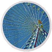 Bavarian Fairy Wheel Round Beach Towel