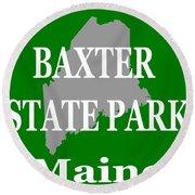 Baxter State Park Pride Round Beach Towel