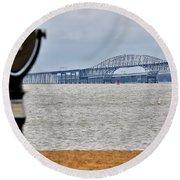 Bay Bridge Round Beach Towel