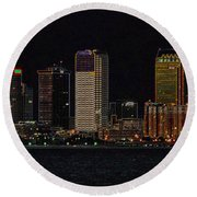 Bay City Round Beach Towel