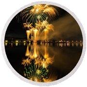 Bay City Fireworks - 2017 - 7 Round Beach Towel