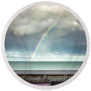 Bay Of Rainbows Round Beach Towel
