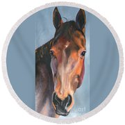 Thoroughbred Royalty Round Beach Towel