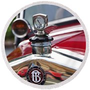 Bayliss Thomas Badge And Hood Ornament Round Beach Towel