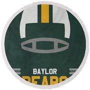 Baylor Bears Vintage Football Art Round Beach Towel