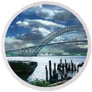 Bayonne Bridge Round Beach Towel