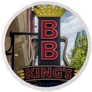 Bb King's Blues Club - Honky Tonk Row Round Beach Towel