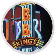 Bb King's Blues Club Round Beach Towel