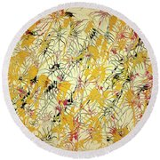 Bumble Bees Against The Windshield - V1ls75 Round Beach Towel