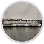 B.c. Ferries Coastal Renaissance Round Beach Towel