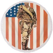 Be A U.s. Marine Round Beach Towel