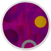 Be Happy II Round Beach Towel
