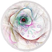 Be Strong Little Flower Round Beach Towel