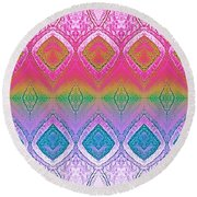 Be Whimsical  Round Beach Towel