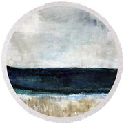 Beach- Abstract Painting Round Beach Towel