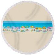 Beach Art - Crazy Lazy Summer Days Round Beach Towel