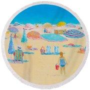 Beach Art - Every Summer Has A Story Round Beach Towel