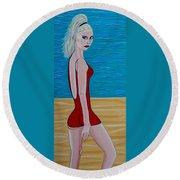 Beach Babe Round Beach Towel